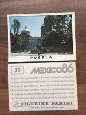 Panini - Mexico 86 World # 30 Puebla  Sticker