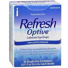 Refresh Optive Lubricant Eye Drops Single Use Containers 30 Each 0.01 ounces