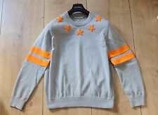 GIVENCHY SWEATER XL pullover pulli grey orange stars