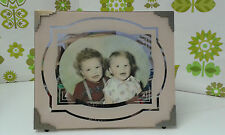 Gorgeous Large 1930's/40's Art Deco Photo in Pink Silvered/Mirrored Frame  (s31)