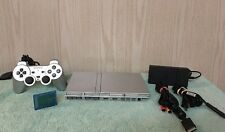 SILVER SONY PLAYSTATION 2 CONSOLE SCPH-77001 PS2 GAME SYSTEM SLIM