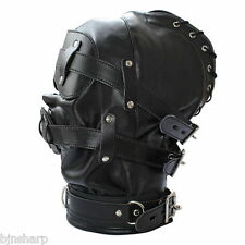 *** ADULT GIMP BONDAGE MASK HOOD SENSORY DEPRIVATION SM SEX FETISH SLAVE ***