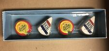 Awesome Boston Warehouse Ceramic Brie & Gouda Mini Salt & Pepper Shakers NIP