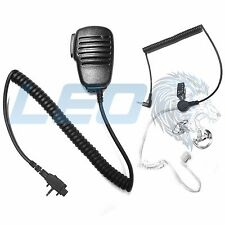 Speaker Mic + 3.5mm Earpiece + 2 Clear Earmolds for Vertex VX231 VX261 VX454