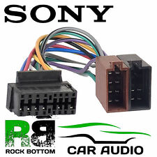 pioneer cdx m sony cdx m610 car radio stereo 16 pin wiring harness loom iso lead adaptor