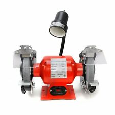 """8"""" Bench Grinder With Light bright flexible work light spark guard 3/4 HP ul cul"""