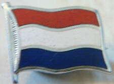 FRANCE Vintage flag type badge Brooch pin in chrome 19mm x 16mm