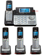 Vtech DS6151 DECT 6.0 2-Line Cordless Phone with 3 DS6101 Telephone Bundle Set