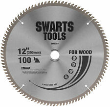 "SWARTS TOOLS 305MM 12"" 100 TOOTH TUNGSTEN CARBIDE TIPPED SAW BLADE 25.4MM BORE"