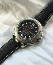 MEN'S CROTON CHRONOGRAPH W / DATE / WR 10ATM / NEW BATTERY / RUNS GREAT / NICE!!