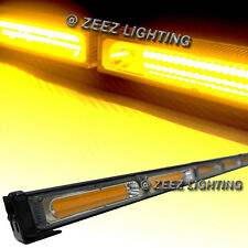 Yellow 60W COB LED Traffic Advisor Emergency Strobe Beacon Warning Light Bar C97