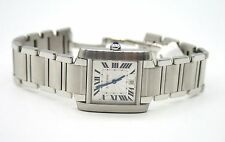 Cartier Tank Francaise automatic movement. stainless steel 28mm x 32mm date.