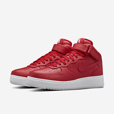2016 NikeLab Air Force 1 Mid SP SZ 10 Gym Red White Lux Premium Nike 819677-600