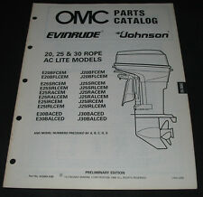 Parts Catalog OMC Evinrude Johnson 20 / 25 / 30 Rope AC Lite Models ET Katalog!