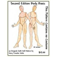 "*NEW* CLOTH ART DOLL (PAPER) PATTERN ""SECOND EDITION BODY BASIC"""