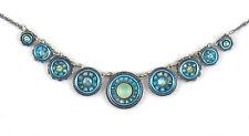 """Firefly La Dolce Vita """"Circles"""" Necklace ; Light Blue"""