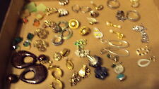 Rhinestones and others Vintage 26 Pr Estate Clip screw on Earrings LOT