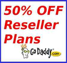 50% off GoDaddy reseller plans for your own domain & hosting business website