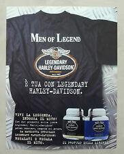 B570-Advertising Pubblicità-1999 - HARLEY DAVIDSON LEGENDARY MEN OF LEGEND