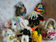 Elmer Parsnip's Easter, bunny, lamb, baskets, flowers -  Soft Toy Knit Pattern