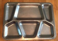 Stainless Divided Prison Military Navy Chow Mess Hall School Lunch Food Tray