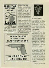 1946 PAPER AD Harben Toy Plastic Water Squirt Gun Ross Chemical Kite Co Article