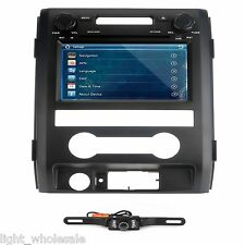 In dash Car DVD Player GPS Radio Stereo 8' Touch Screen For Ford F150+Map+Camera