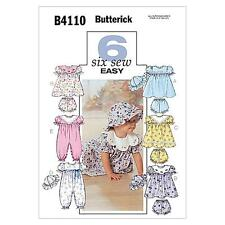 BUTTERICK  SEWING PATTERN INFANTS' DRESS, PANTIES, JUMPSUIT AND HAT S-XL B4110