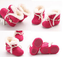Winter Baby Girls Warm Hot Pink Winter Warm Soft Sole Crib Shoes Size 13 N