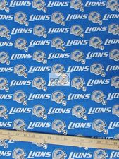 """NFL PRINT COTTON FABRIC - Detroit Lions - 58"""" WIDTH SOLD BY THE YARD - C439"""