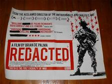 UK Quad Film / Movie Poster ~ Redacted ~ Folded four times