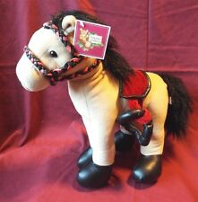 "NWT 15"" Beige Pal-Along-Pony Buckskin with a Red Saddle, Black Mane, Really Cute"