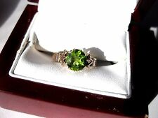 ANTIQUE VICTORIAN 14K ROSE GOLD RING with NATURAL PERIDOT,19 c.