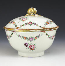 Chinese Export Porcelian Lidded Bowl, 18th Century Armorial Quid Non Pro Patria