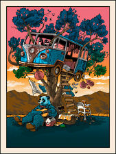 COACHELLA 2014 TIM DOYLE ART PRINT- 'GUITAR FOR PANDAS' SILKSCREEN emek dface
