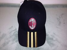 Adidas AC Milan 3 Stripe Soccer Hat Cap Official Lincensed