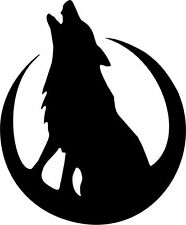Die Cut Silhouette - HOWLING WOLF & MOON x 12 Card making, Scrapbook, Crafts