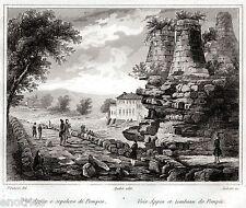 Roma: Via Appia e Sepolcro di Pompeo. Audot. Acciaio. Stampa Antica. 1836