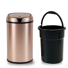 12LTouch-Free Sensor Automatic Aluminium Alloy Touchless Trash Can Kitchen @CA