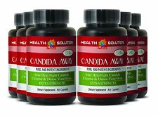 Candida Capsules - CANDIDA AWAY Organic Detox Body Cleanse (6 Bot, 360 Caps)