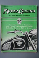 R&L Mag: Motor Cycling Sept 1 1955 Watsonian Sidecars/Aerials/Motocross/Touring