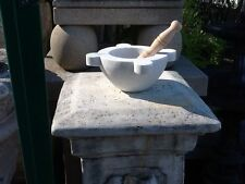 "Carrera Marble Mortar and Pestle Roman Style 13"" Dia. x 7"" Inner Dia x 6.25""H"