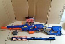 Nerf Darkstrider CS6 rifle de francotirador + la revista & Nuevo municiones. Raro Cinturón de municiones vista.