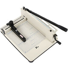 "17"" Paper Cutter 400 Sheet A4 Heavy Duty Industrial Guillotine Trimmer Machine"