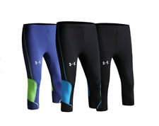 """NEW! AUTH UNISEX ATHLETIC/RUNNING COMPRESSION 3/4 PANTS (BLACK/BLUE, LG/ 32-34"""")"""