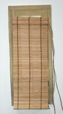 DOLLHOUSE MINIATURE BAMBOO ROLL- UP SHADE FOR DOORS