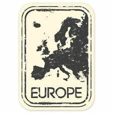 "Europe travel car bumper window suitcase sticker 5"" x 3"""
