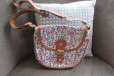Floral Cross Body Bag with Faux leather trim & adjustable strap