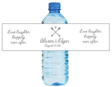 100 Love Laughter Happily Ever After Wedding Birthday Party Water Bottle Labels