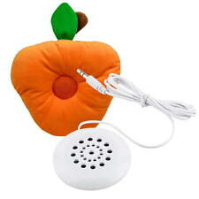 3.5mm Mini Pillow Aux Portable White Speaker for MP3 MP4 Player iPhone 4 4S FT
